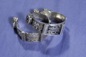 Untitled (Pair of Cuffs from Draa River, Morocco)