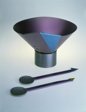 Salad Bowl with Serving Spoons